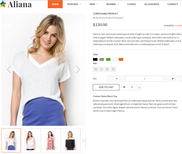 Aliana Clothing Magento 2 Theme