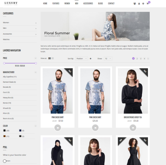 Magento 2 themes  Luxury Premium Fashion Theme